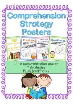 Comprehension Strategy Posters and Bookmarks for Reading K-3