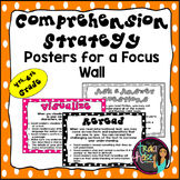 Comprehension Strategy Posters for a Focus Wall