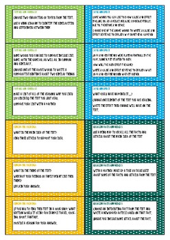 Comprehension Strategy Questions