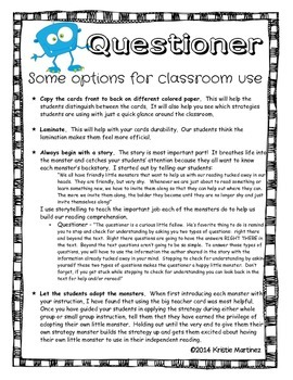 Monster Strategies {Asking Questions} - Collect Them All!