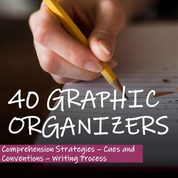 COMPREHENSION STRATEGIES and WRITING PROCESS - 40 GRAPHIC ORGANIZERS