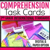 Comprehension Task Cards 2nd Grade INFORMATIONAL Standards