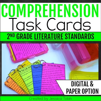 Comprehension Task Cards 2nd Grade LITERATURE Standards