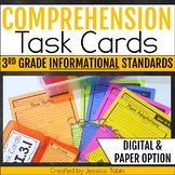 Comprehension Task Cards 3rd Grade INFORMATIONAL Standards