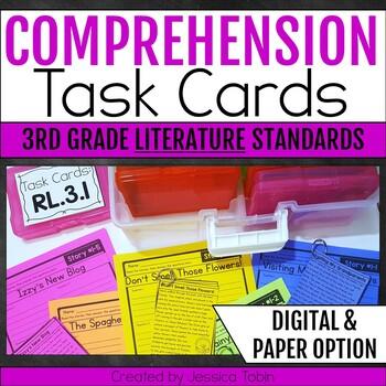 Comprehension Task Cards 3rd Grade LITERATURE Standards
