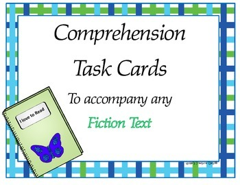 Comprehension Task Cards - Fiction