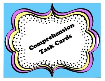 Comprehension Task Cards for Guided Reading