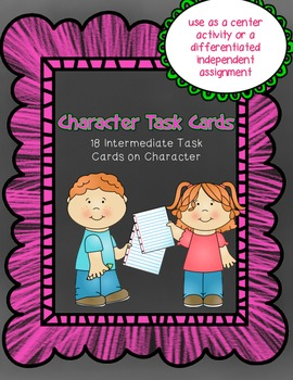 Comprehension Task Cards on Character