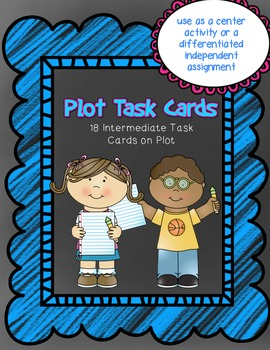 Comprehension Task Cards on Plot