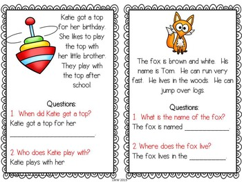 Comprehension Task Cards with Scaffolded Answers