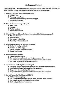 Comprehension Test - 13 Treasures (Harrison)