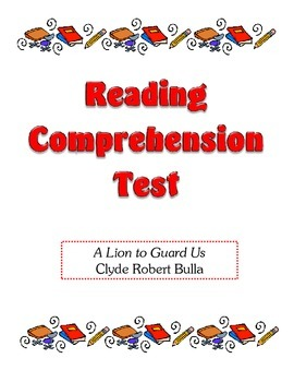 Comprehension Test - A Lion to Guard Us (Bulla)
