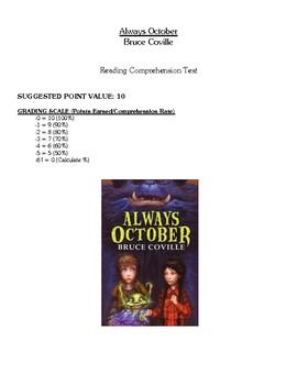 Comprehension Test - Always October (Coville)
