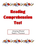 Comprehension Test - Amazing Whales (Thomson)