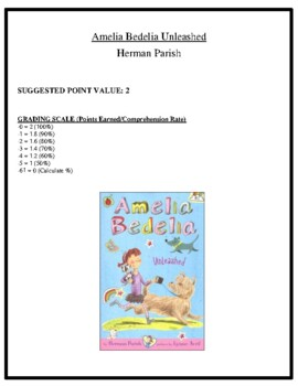 Comprehension Test - Amelia Bedelia Unleashed (Parish)