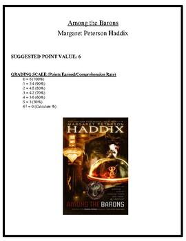 Comprehension Test - Among the Barons (Haddix)