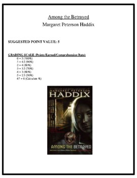 Comprehension Test - Among the Betrayed (Haddix)