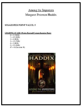 Comprehension Test - Among the Imposters (Haddix)