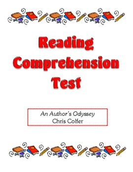 Comprehension Test - An Author's Odyssey (Colfer)