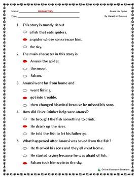 Comprehension Test: Anansi The Spider