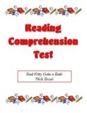 Comprehension Test - Bad Kitty Gets a Bath (Bruel)