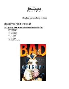 Comprehension Test - Bad Unicorn (Clark)