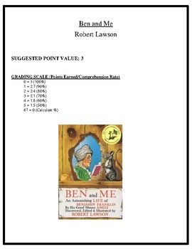 Comprehension Test - Ben and Me (Lawson)