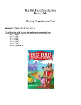 Comprehension Test - Big Bad Detective Agency (Hale)
