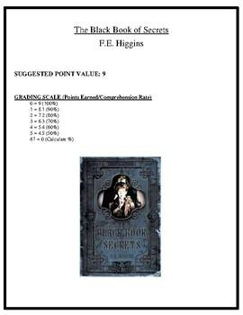 Comprehension Test - Black Book of Secrets (Higgins)