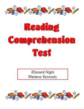 Comprehension Test - Blizzard Night (Kennedy)