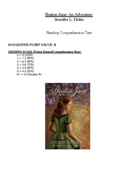 Comprehension Test - Boston Jane: An Adventure (Holm)