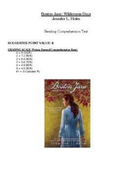 Comprehension Test - Boston Jane: Wilderness Days (Holm)