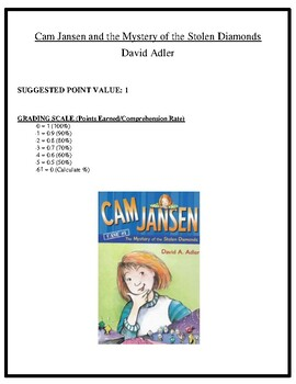 Comprehension Test - Cam Jansen and the Mystery of the Stolen Diamonds (Adler)