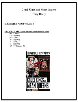Comprehension Test - Cruel Kings and Mean Queens (Deary)