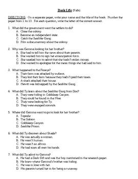 Comprehension Test - Dark Life (Falls)