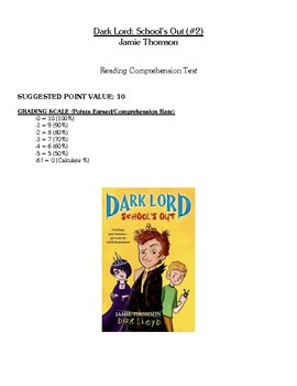 Comprehension Test - Dark Lord: School's Out (Thomson)