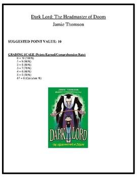 Comprehension Test - Dark Lord: The Headmaster of Doom (Thomson)