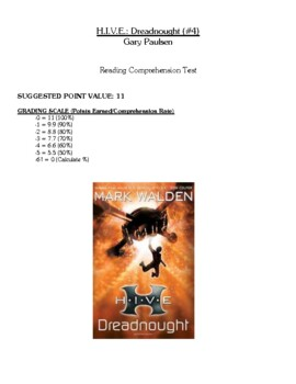 Comprehension Test - Dreadnought (Walden)