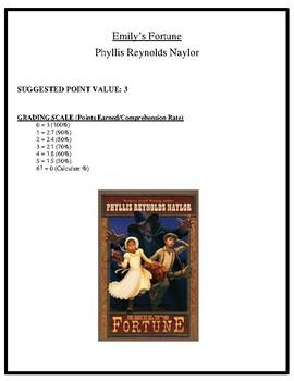 Comprehension Test - Emily's Fortune (Naylor)