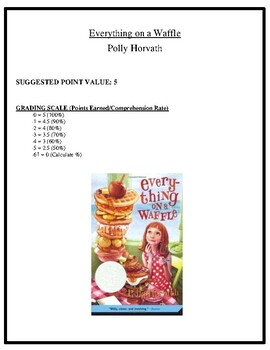 Comprehension Test - Everything on a Waffle (Horvath)
