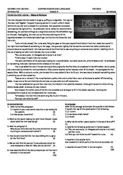 Comprehension Test - Fanie Fourie's Lobola
