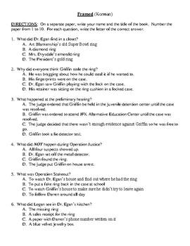 Comprehension Test - Framed (Korman)