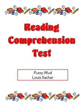 Comprehension Test - Fuzzy Mud (Sachar)