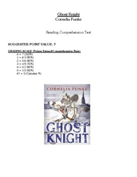 Comprehension Test - Ghost Knight (Funke)