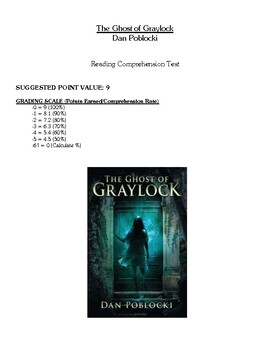 Comprehension Test - Ghost of Graylock (Poblocki)