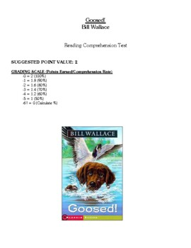 Comprehension Test - Goosed! (Wallace)