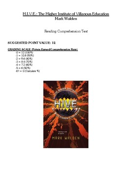 Comprehension Test - HIVE: The Higher Institute of Villainous Education (Walden)