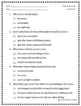 Comprehension Test: Happy Birthday Moon