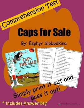 Comprehension Test: Caps for Sale - First or Second Grade
