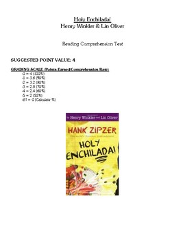 Comprehension Test - Holy Enchilada! (Winkler/Oliver)